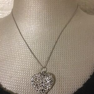 Huge Victorian Sterling Silver Closed Locket